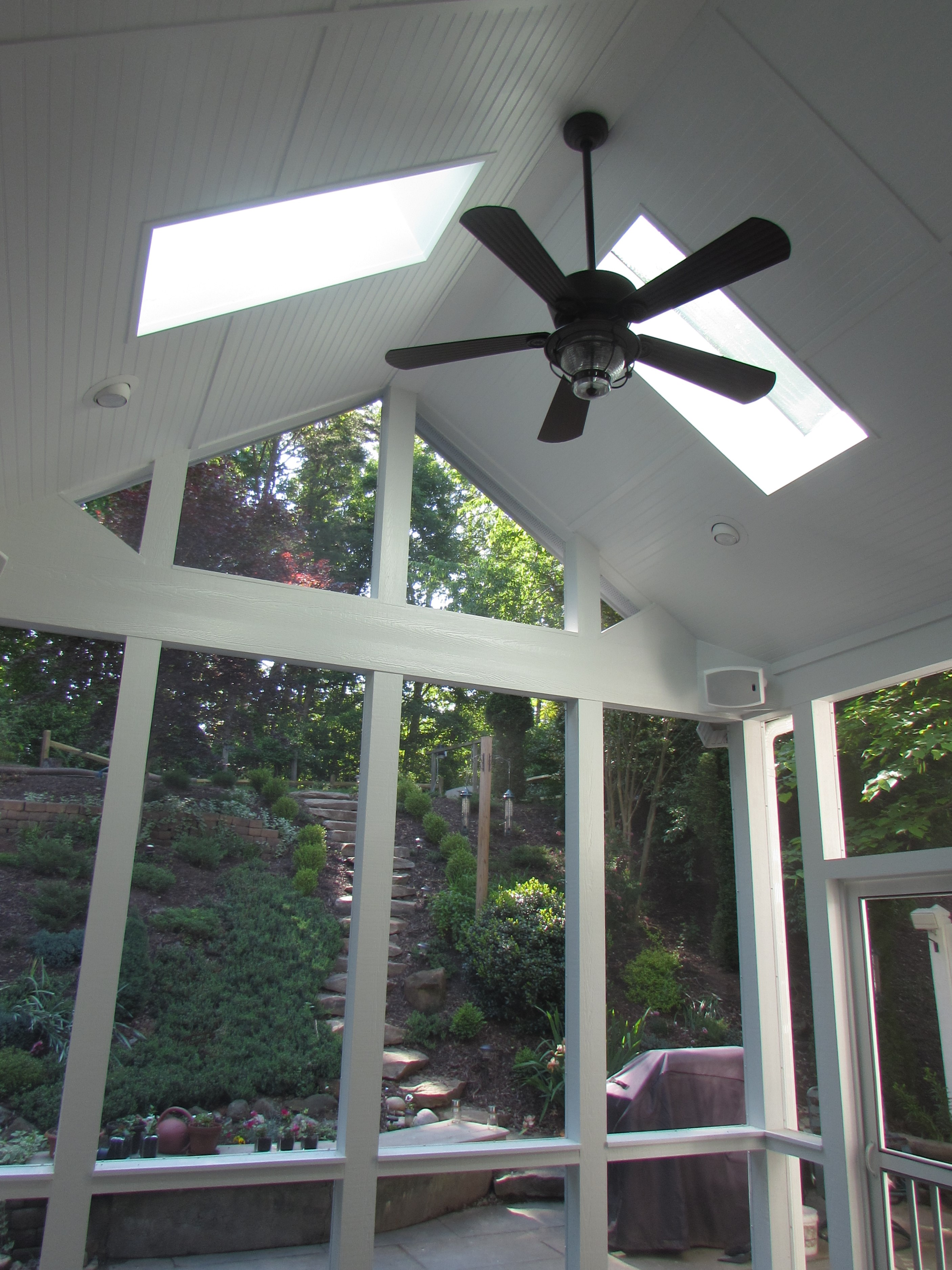 Gable Roof with Ceiling Fan