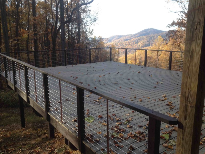 Cable Railing Deck - Above