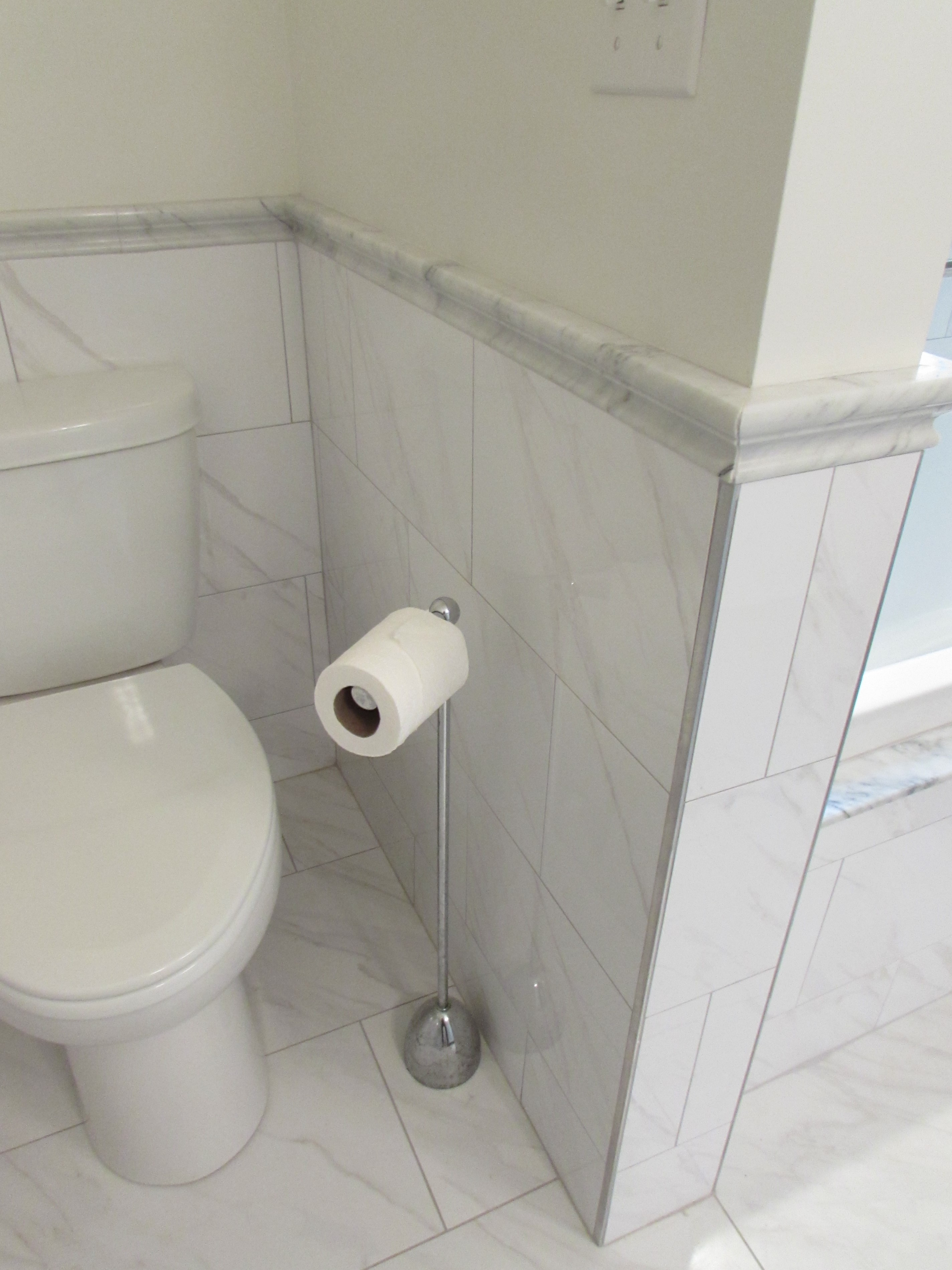 Marble Tile Wainscoting